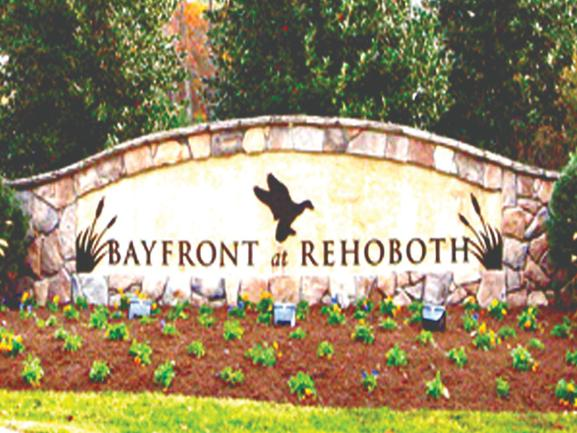 Bayfront at Rehoboth Neighborhood Entrance